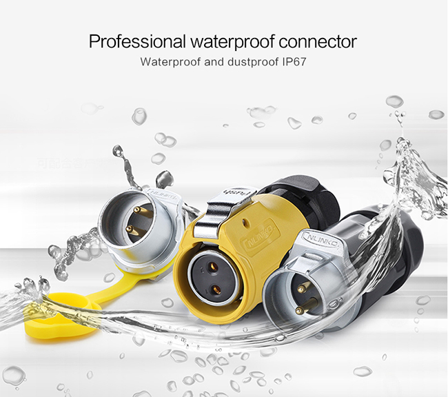 Electrical Plastic Power Waterproof Wire Connectors Marine  , 2 pin 3 pin Waterproof Landscape Wire Connectors