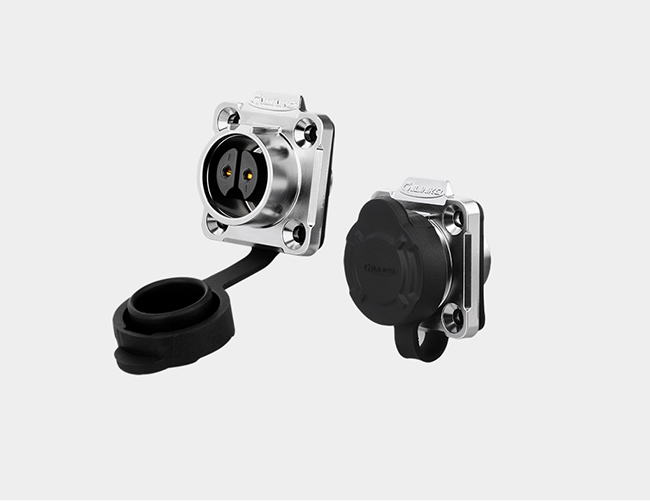 IP65  4 Pin Waterproof Circular Connectors , Waterproof Electrical Terminals Connector For Power