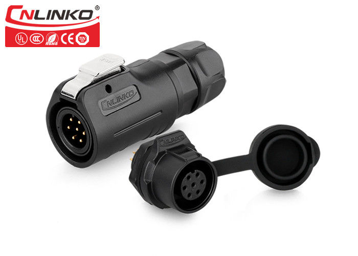 IP65 Waterproof Wire Connectors M12 7 Pin Circular Type Cnlinko For Power Equipment