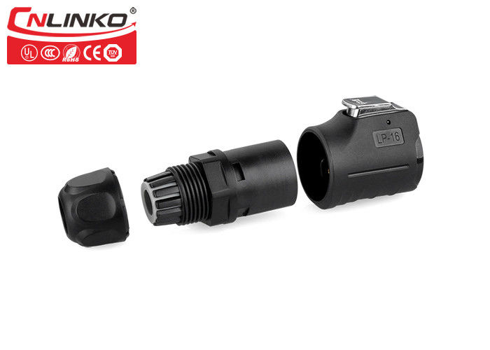 Sealed Unshielded Waterproof Electrical Quick Connectors Cnlinko M16  5 Pin Male To Female LP-16