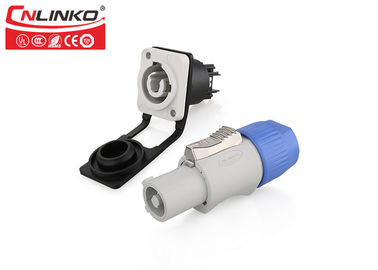 IP65 Powercon Male Female Connector Cnlinko Field Installation For Battery Charger