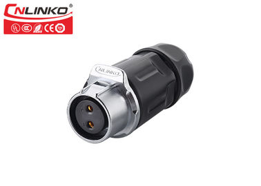 China Plastics Waterproof Circular Connectors CNLINKO LP20 2 Pin Electric High Performance factory