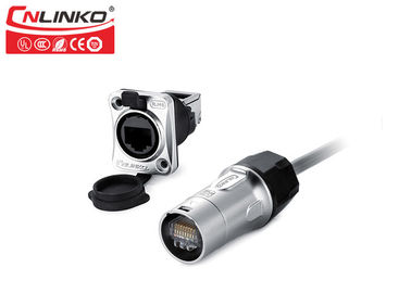 Multi Pin Outdoor Rated Rj45 Connector , Waterproof Power Connector CNLINKO YT Series