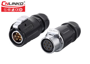 China M20 7 Pin IP67 Waterproof Automotive Wire Connectors Quick Lock CNLINKO Outdoor Led Strip Lighting factory
